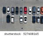empty parking lots  aerial view. | Shutterstock . vector #527608165