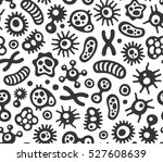 microbes  virus and bacteria... | Shutterstock .eps vector #527608639