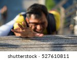 a man falling down stairs hands ... | Shutterstock . vector #527610811