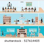 business people in the interior ... | Shutterstock .eps vector #527614405