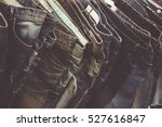 stack of jeans  background... | Shutterstock . vector #527616847