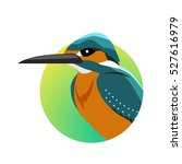 kingfisher vector. predatory... | Shutterstock .eps vector #527616979