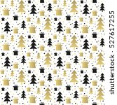 seamless pattern with gold and... | Shutterstock .eps vector #527617255