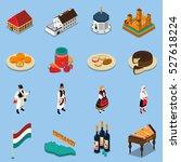 hungary isometric touristic... | Shutterstock .eps vector #527618224