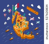 mexican attractions for... | Shutterstock .eps vector #527620834