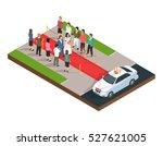wedding ceremony isometric... | Shutterstock .eps vector #527621005