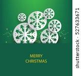 christmas greeting card. vector ... | Shutterstock .eps vector #527633671