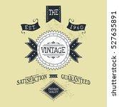 hand lettered catchword vintage ...   Shutterstock . vector #527635891