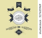 hand lettered catchword vintage ...   Shutterstock . vector #527635969