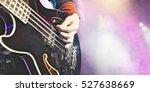 closeup of man playing bass...   Shutterstock . vector #527638669