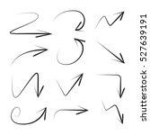 vector set of hand drawn arrows | Shutterstock .eps vector #527639191