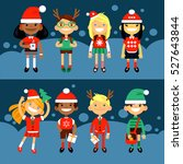 set of characters elementary... | Shutterstock .eps vector #527643844