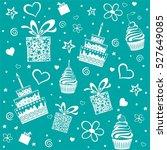 happy birthday. seamless... | Shutterstock .eps vector #527649085