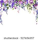 Watercolor Wisteria Purple ...