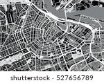 urban city map of amsterdam | Shutterstock .eps vector #527656789