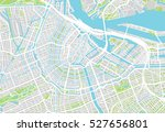 urban city map of amsterdam | Shutterstock .eps vector #527656801