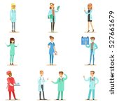 doctors with different... | Shutterstock .eps vector #527661679