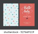 baby shower boy or girl... | Shutterstock .eps vector #527669119