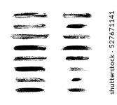 grunge brushes stroke texture... | Shutterstock . vector #527671141