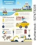 mining industry vertical... | Shutterstock .eps vector #527673235