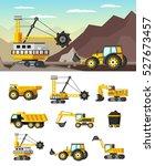 mining industry orthogonal... | Shutterstock .eps vector #527673457