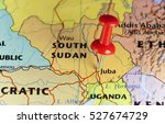 Small photo of Young African country South Sudan. Copy space available.