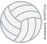 volleyball vector icon | Shutterstock .eps vector #527677114