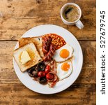 full english breakfast with... | Shutterstock . vector #527679745