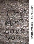 Love You And A Heart Graffiti...