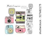hipster photo camera collection ... | Shutterstock .eps vector #527682175