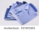 classic men's shirts stacked | Shutterstock . vector #527691001