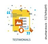 infographic flat design concept ... | Shutterstock .eps vector #527696695