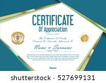 luxury certificate or diploma... | Shutterstock .eps vector #527699131