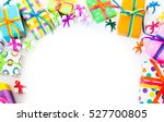 christmas gift boxes. top view... | Shutterstock . vector #527700805