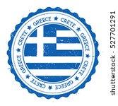 crete flag badge. grunge rubber ... | Shutterstock .eps vector #527701291