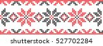 embroidered cross stitch... | Shutterstock .eps vector #527702284
