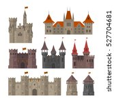 medieval castles  fortresses... | Shutterstock .eps vector #527704681
