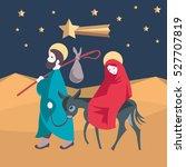 holy family  flight to egypt.... | Shutterstock .eps vector #527707819