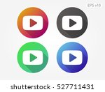 colored icon of play symbol... | Shutterstock .eps vector #527711431