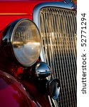 grill and lights of a 1934 ford ... | Shutterstock . vector #52771294