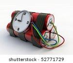 bomb isolated on white background - stock photo