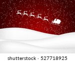 santa claus rides in a sleigh...