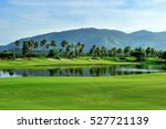 green grass area in golf... | Shutterstock . vector #527721139