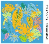 vector graphical tropical... | Shutterstock .eps vector #527725411