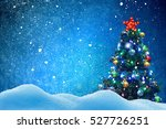 winter background.merry... | Shutterstock . vector #527726251