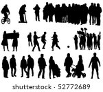 the black silhouettes of the... | Shutterstock . vector #52772689
