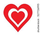 love vector heart shape symbol... | Shutterstock .eps vector #527726995