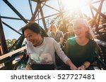 young people on a thrilling... | Shutterstock . vector #527727481