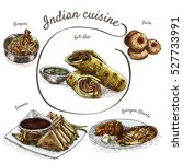 menu of indian colorful... | Shutterstock .eps vector #527733991