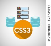 css3 language data base storage ... | Shutterstock .eps vector #527734954